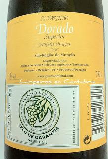 Blanco Dorado Albarinho Superior 2008