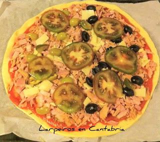 Pizza Casera Sin Lactosa