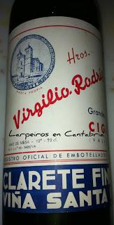 Clarete Virgilio Rogriguez, Cigales, y del año 1958, aún para disfrutar