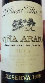 Vino Tinto Viña Arana 1998 Clásico de Rioja
