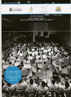 Conservatorio Ataulfo Argenta, concierto fin de curso