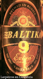 Cerveza Baltika 9. Brewed in Russia