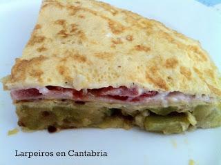 Tortilla de Calabacín preñada (Sin Lactosa)