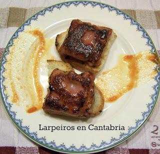 Bocados de Minniky [2] Tosta de Bacon y Langostinos