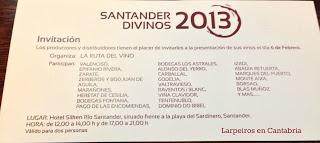 Santander Divinos 2013, Salón de Vinos