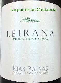 Blanco Leirana Finca Genoveva 2010, esperaba más