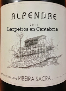 Vino tinto Alpendre Merenzao 2011: Especial, espectacular, excelente.