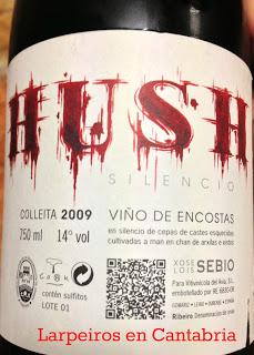 Vino Tinto Hush 2009: Brutalmente bueno, al lado de gente maravillosa.