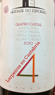 Vino Tinto Quatro Castas «4» Esporao 2010: Alentejo rico de Verdad