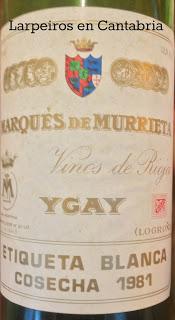 Vino Tinto Marqués de Murrieta 1981: Realmente bueno
