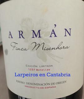 Vino Blanco Casal de Armán Finca Misenhora 2010: Espectacular