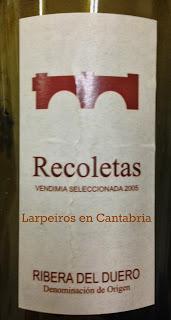 Vino Tinto Recoletas Vendimia Seleccionada 2005 en Magnum