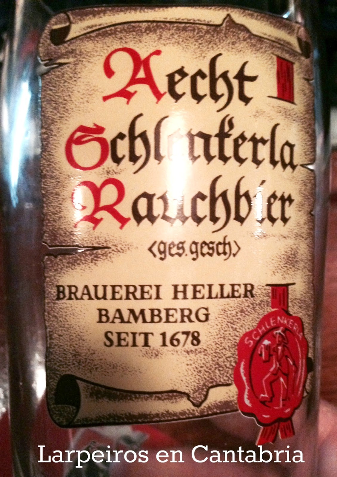 Cerveza Aecht Schlenkerla Rauchbier: Ahumada de Alemania