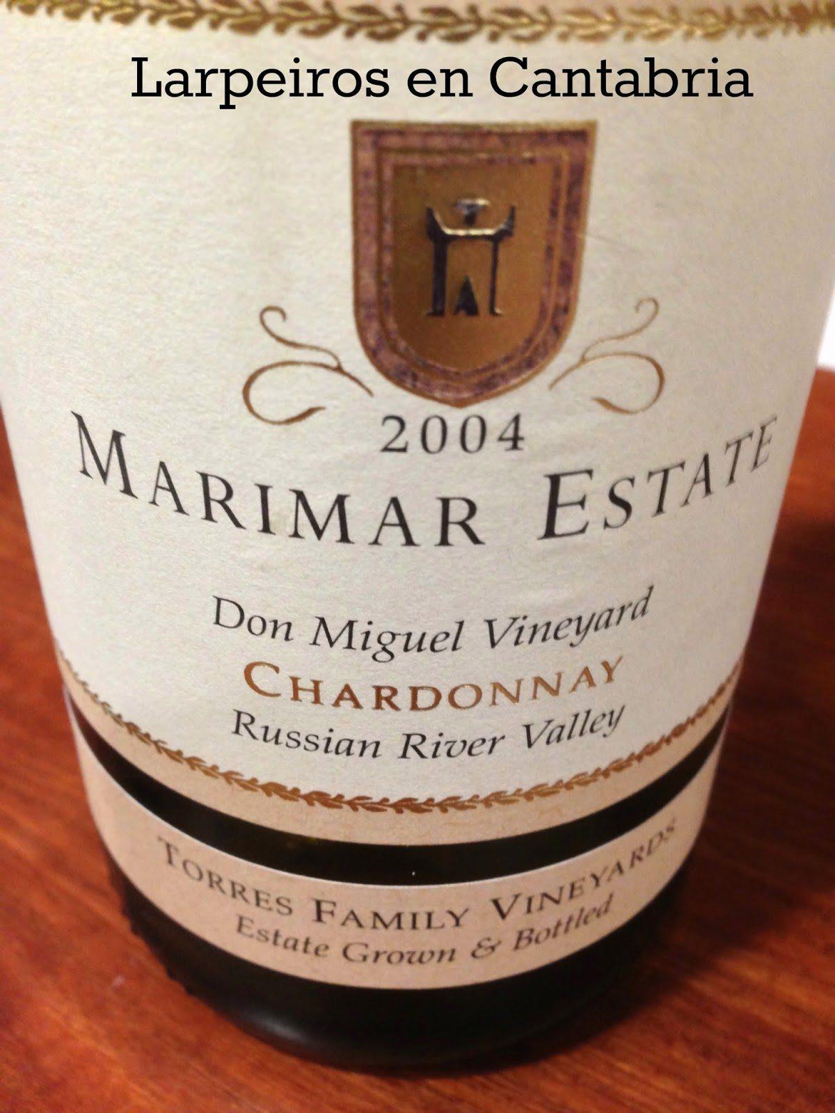 Blanco Marimar Estate «La Masía» Chardonnay 2004: Que bien ha evolucionado