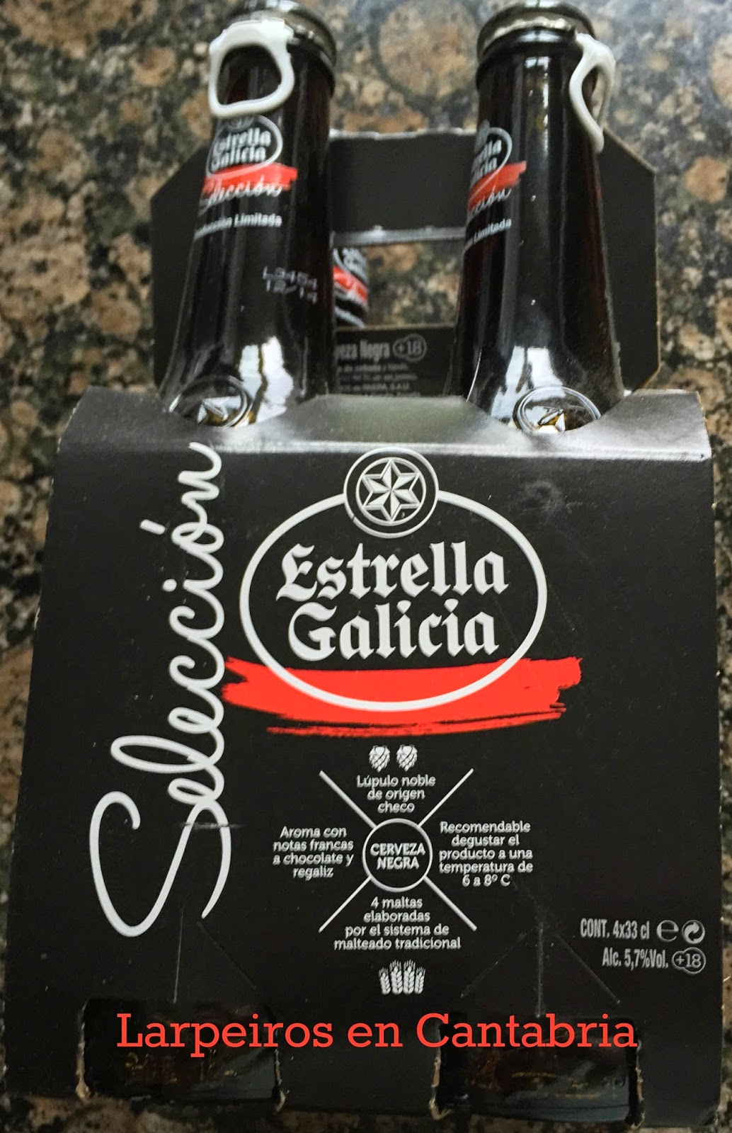 Cerveza Negra Estrella Galicia Selección