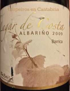 Vino Blanco Lagar de Costa Barrica 2009: Sublime