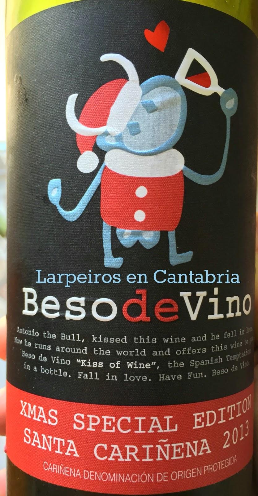 Vino Tinto Beso de Vino Xmas Special Edition Santa Cariñena 2013