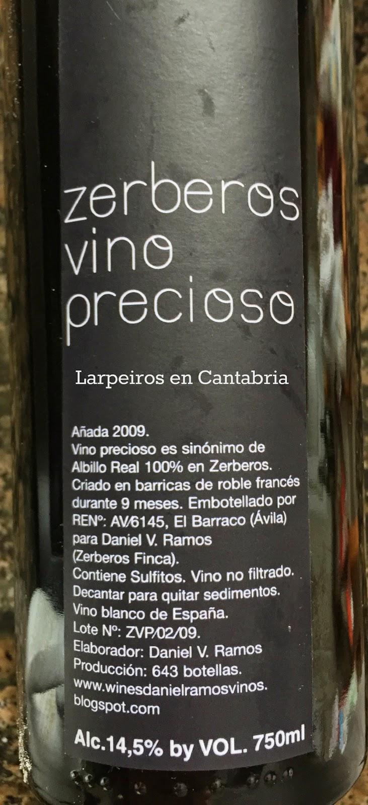 Vino Blanco Zerberos Vino Precioso 2009: Complejo y Espectacular