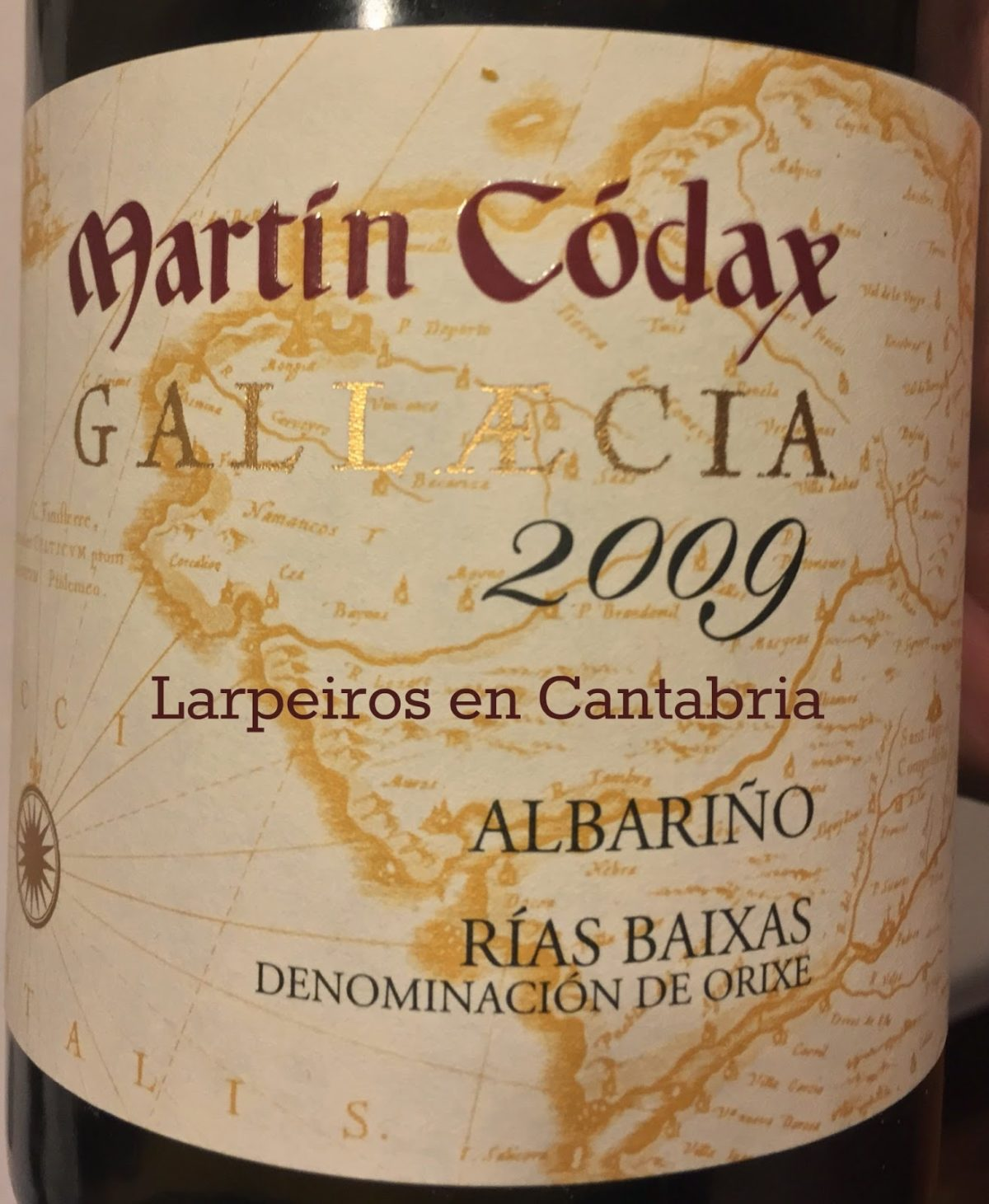 Vino Blanco Gallaecia 2009: Top de Martín Codax