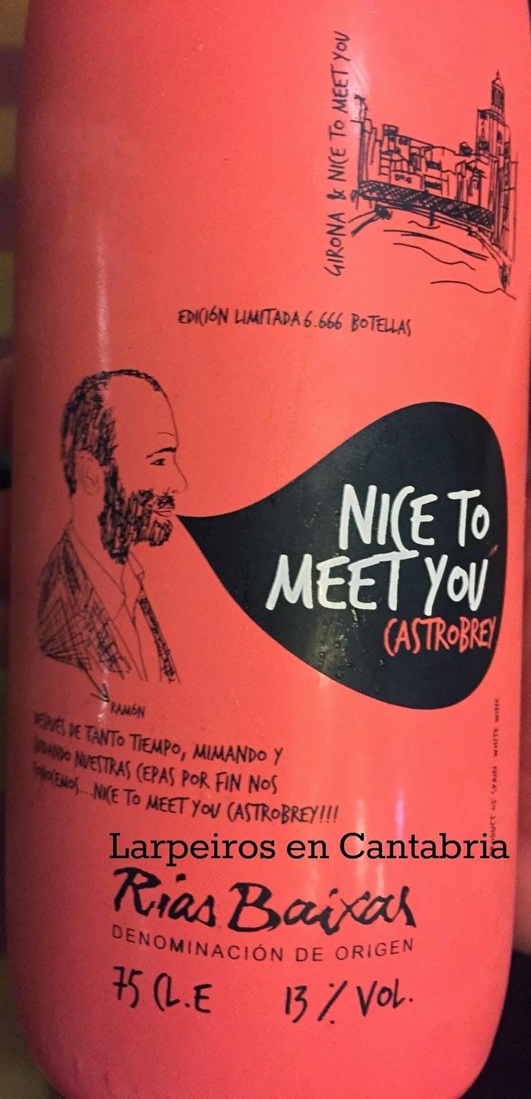 Vino Blanco Nice To Meet You 2013: De un amigo por un amigo