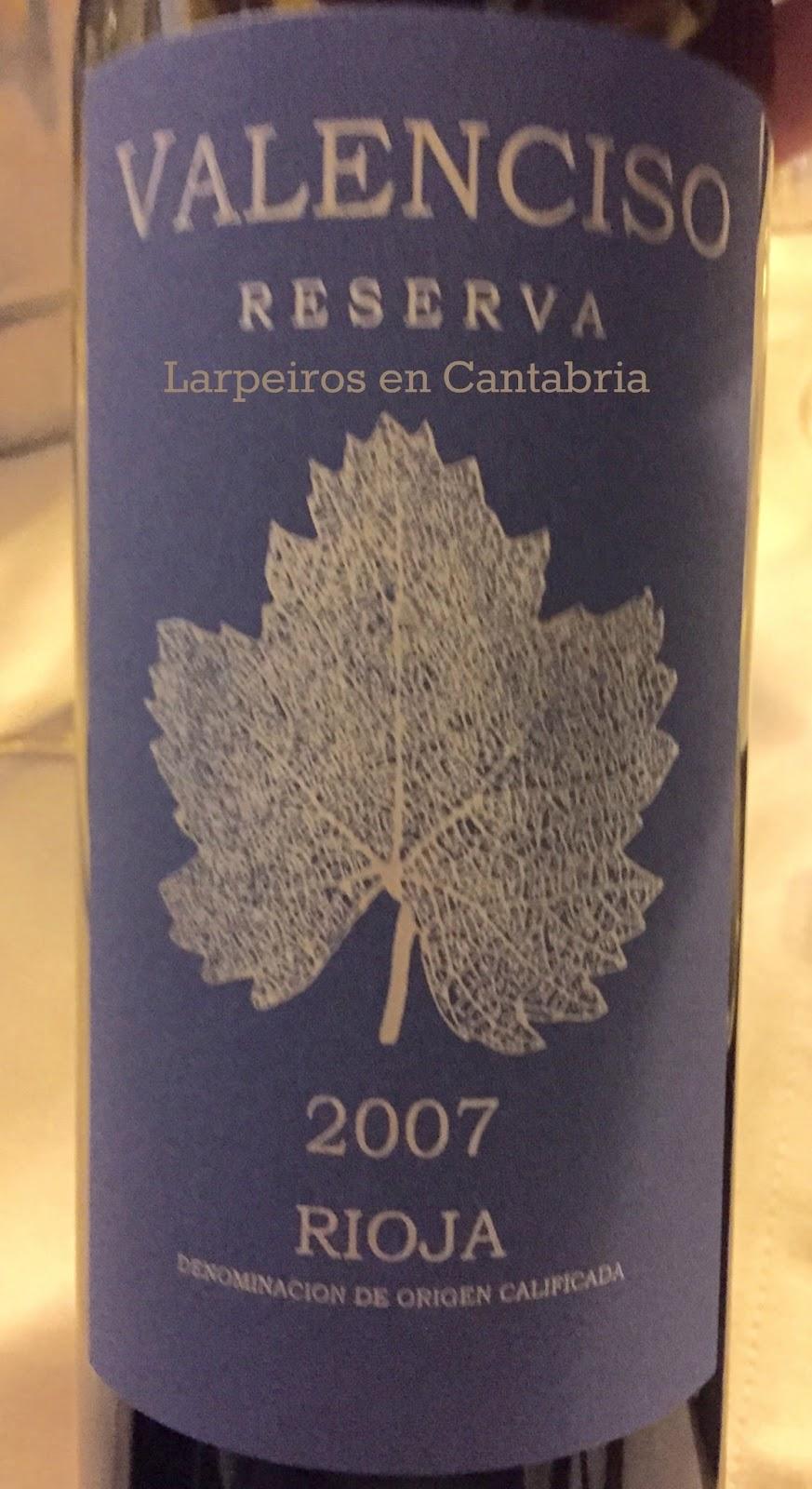 Vino Tinto Valencisco Reserva 2007: Sólo Reservas, Solo de Rioja