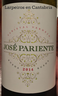 Vino Blanco José Pariente Verdejo 2014: Desilusión