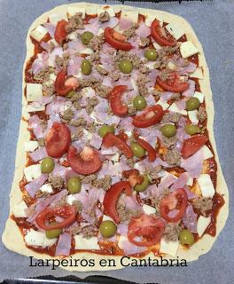 Masa de Pizza sin lactosa y sin levadura