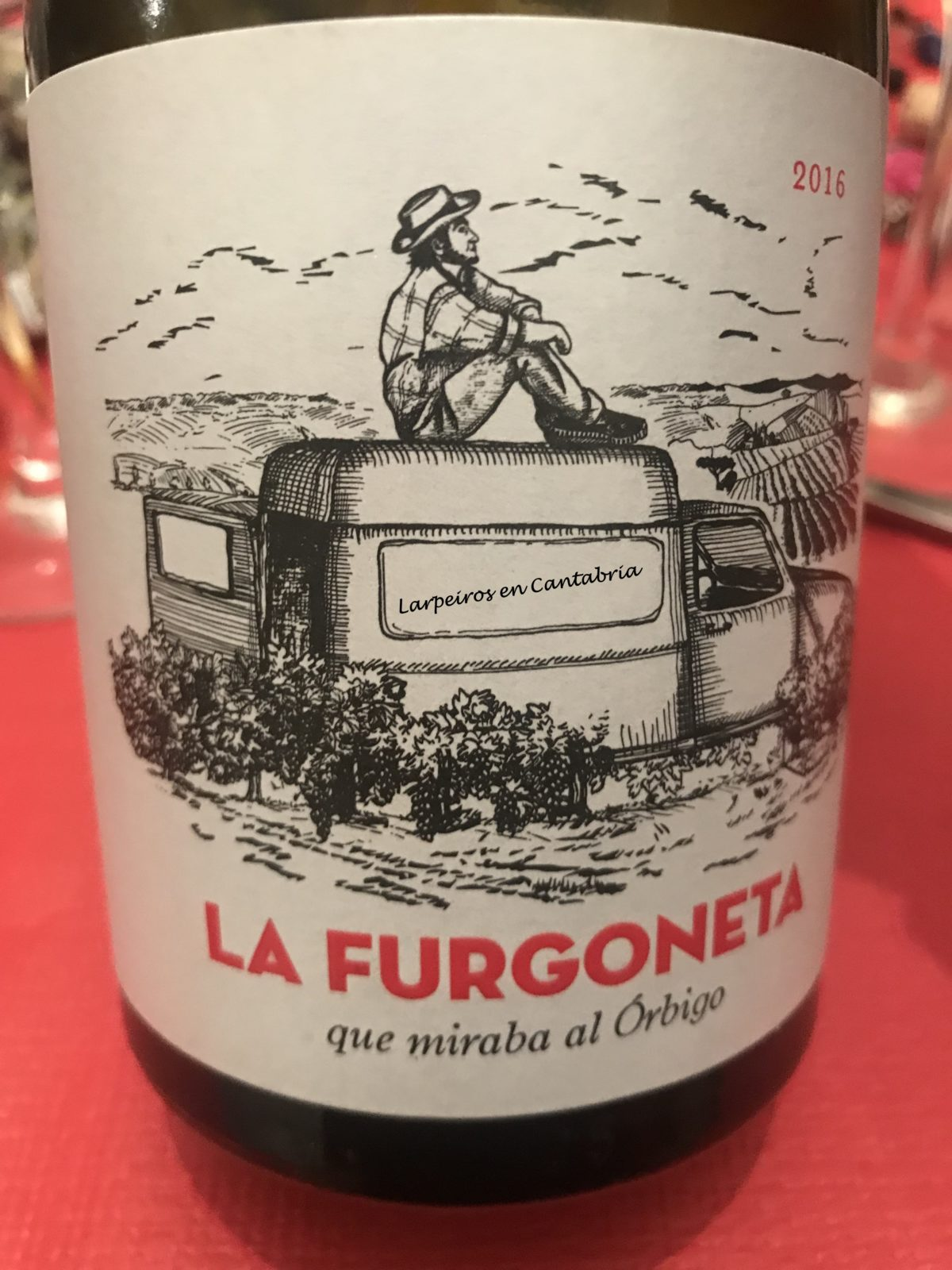 Vino Tinto la Furgoneta que miraba al Órbigo 2014