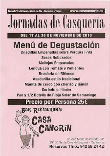 Canorin Bar Restaurante Jornadas de Casquería