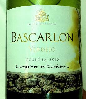 Vino blanco Bascarlon 2010 Verdejo en la Feria de día de Santander 2011