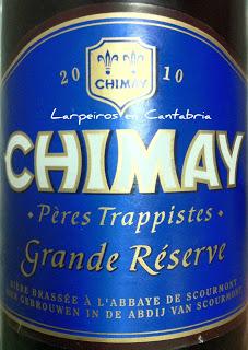 Cerveza Chimay Azul 2010 Gran Reserva 750 Cl. de auténtica Abadía