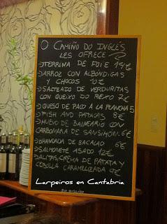 Restaurante O Camiño Do Inglés, Ferrol, nuestra segunda visita