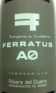 Vinto Tinto Ferratus A0 2010, el último de tres grandes