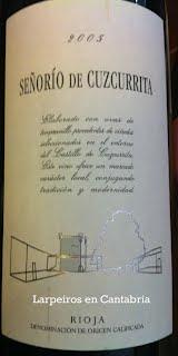 Tinto Señorío Cuzcurrita 2005, Rioja que me gusta