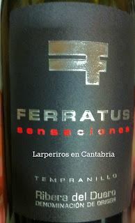 Vino Tinto Ferratus Sensaciones 2006, Sexual y sensual