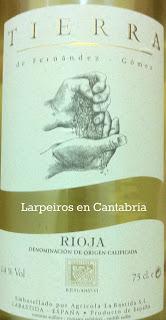Vino Blanco Tierra 2011, Fermentado en Barrica y para evolucionar