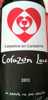 vino Tinto Corazón Loco 2011, Pizpireto y divertido