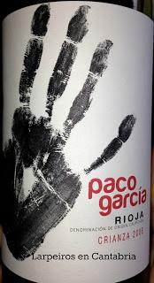 Vinos Tintos Paco García [2]: Crianza del 2008, Crianza de los nuestros