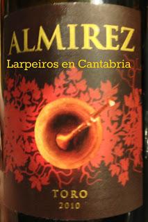 Vino Tinto Almirez 2010. Toro bravío