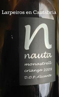 Tinto Nauta Crianza 2009: Freixenet, Alicante, Monastrell, buena conjunción