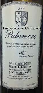 Vino Tinto Palomero 2000: Realmente rico.
