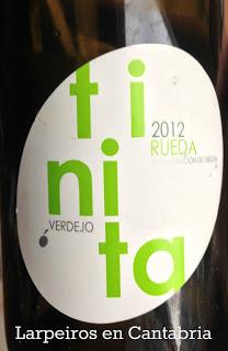 Vino Blanco Tinita 2012: Un rueda interesante