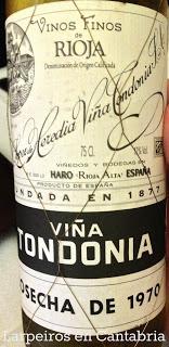 Vino Blanco Viña Tondonia Gran Reserva 1970