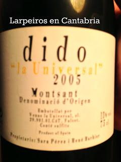 """Vino Tinto Dido """" La Universal """" 2005: Increíblemente bueno"""