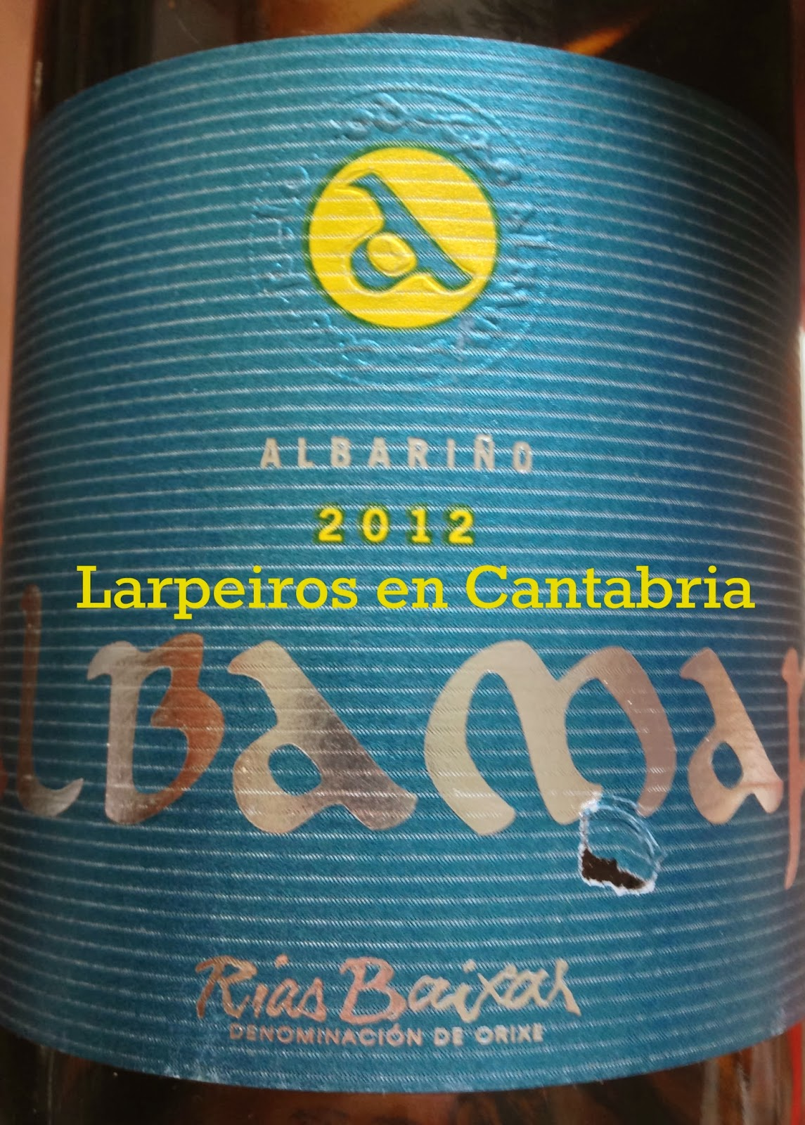 Vino Blanco Albamar 2012, Merece la pena tomar más.