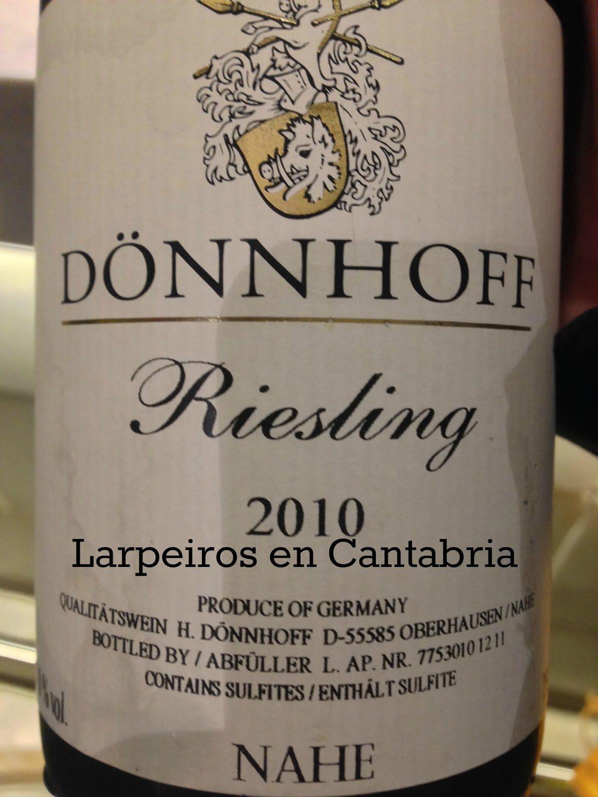 Vino Blanco Dönnhoff Riesling 2010: Manteniendo la línea