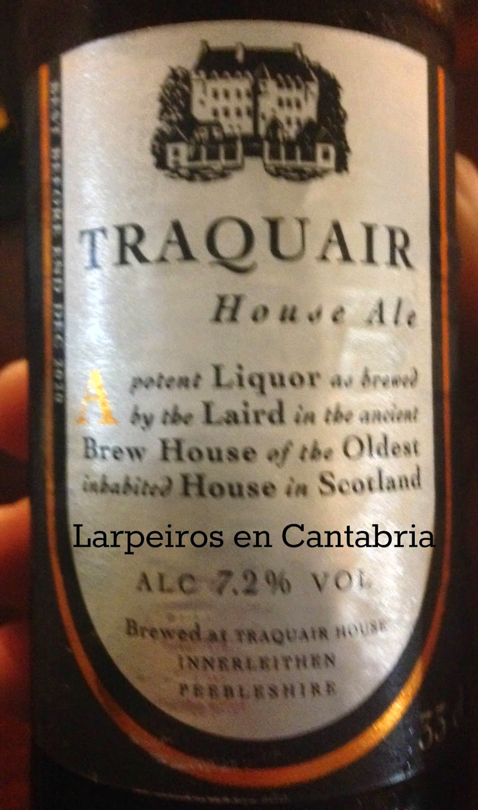 Cerveza Traquair House Ale: Interesante