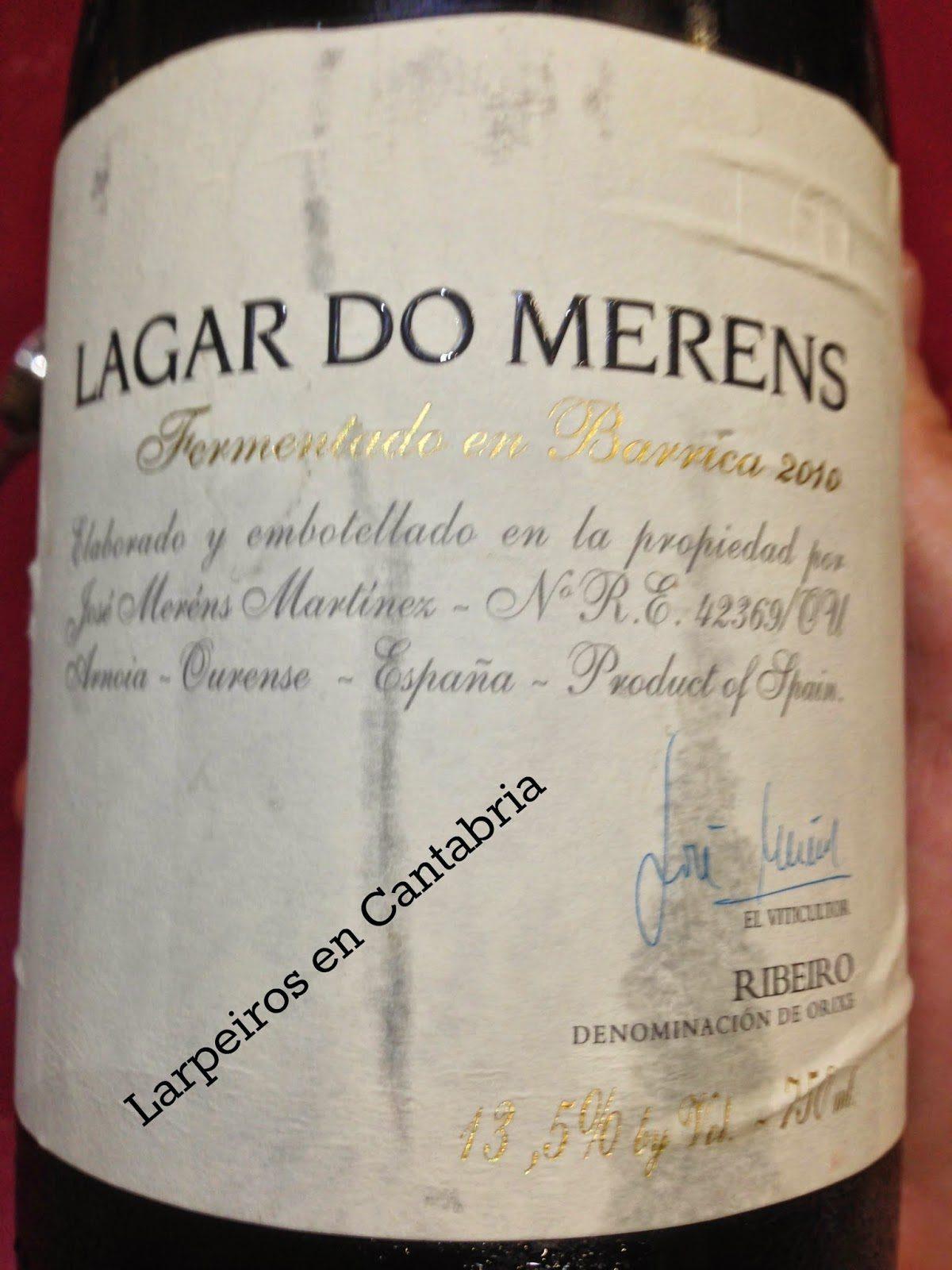 Vino Blanco Lagar do Merens 2010 Fermentado en Barrica: Bien ensamblado