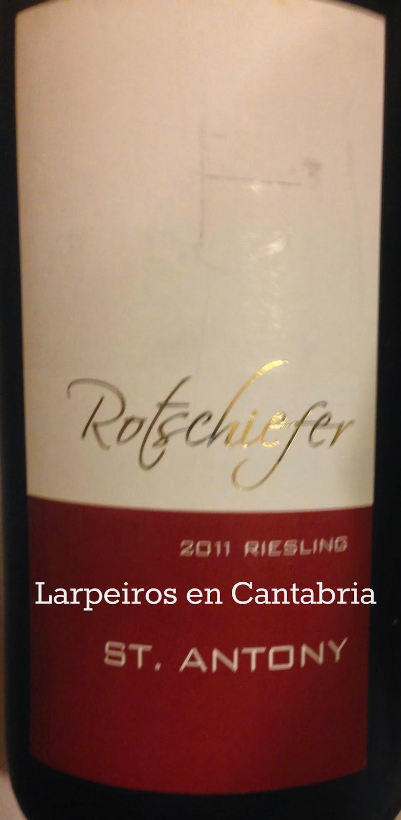 Vino Blanco Rotschiefer Riesling 2011: Estaba bueno