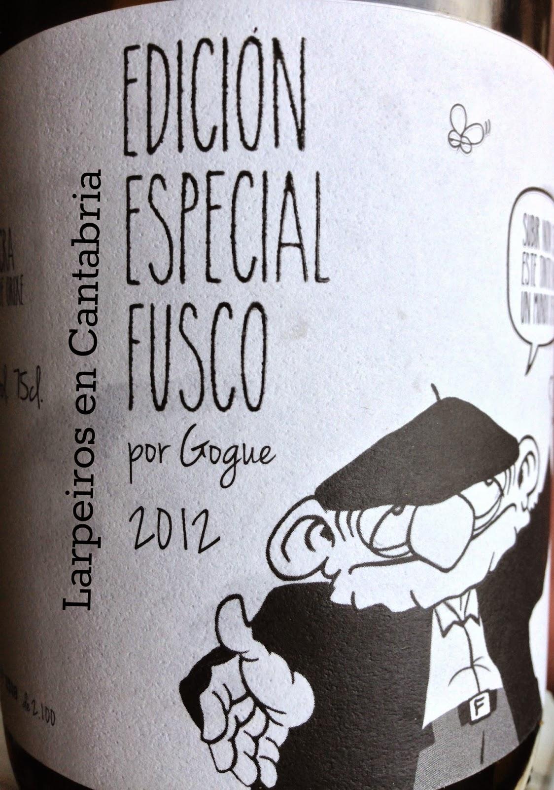 Vino Tinto Fusco Floreano 2012: Edición especial de Xurxo